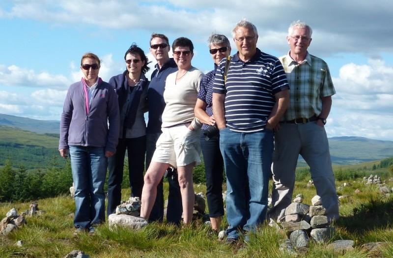 Von links nach rechts: Regina, Lydia, Heinz, Christa, Sabine, Paul, Kurt