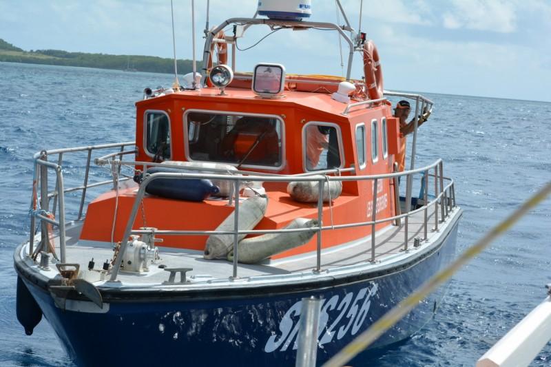 Ein kleines feines Rettungsboot.Zu dem Zeitpunkt wussten wir noch nichts über die Chaostruppe
