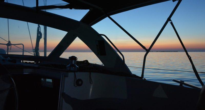 Sonnenuntergang am Great Sale Cay